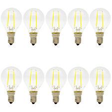 10x 2W Glühfaden E14 LED Lampe Filament Tropfenform Fadenlampe Kaltweiss 6500K