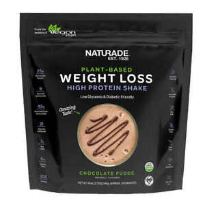 NATURADE Plant-Based Weight Loss High Protein Shake Chocolate 44 oz 24 Servings