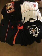 San Francisco Giants MLB Baseball Clothing Lot (5) Jackets Shirt CAP 2010 Champs