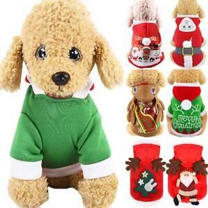 Santa  Costume Reindeer Hoodie Pet Cats Dogs Puppy Fancy Coat Jumper Pullover