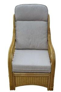 Sorrento Cane Conservatory Furniture -Single Chair - 'cream' Design Fabric