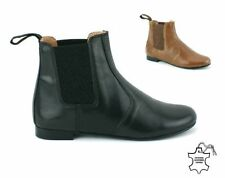 Patternless Flat (less than 0.5') Pull On Boots for Women