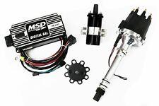Msd Ignition 6Al Box w/ Tsp Pro Billet Distributor & Coil 6425 Sbc Bbc Black