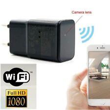 8GB 1080P WIFI Security Mini SPY Hidden US Wall Charger  Camera Adapter Plug