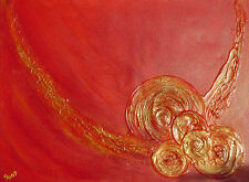 """Acrylbild Acrylmalerei Gemälde  abstrakte Kunst Wanddekoration """"Feuerwirbel"""""""