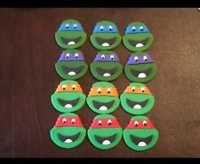Edible Fondant Cupcake Toppers Minion Mario TMNT Mickey Sesame Street Decoration