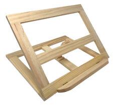 Leggio legno x libri da cucina ricettario 4 inclinazioni supporto per tablet