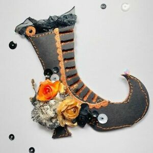 Witch Boots Halloween Tags Metal Cutting Dies Stencils DIY Scrap-Booking Decor