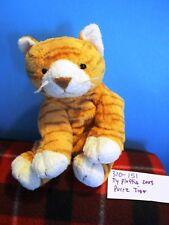 Ty  Pluffies Purrz Orange Tiger Tabby Cat 2003 beanbag plush(310-151)
