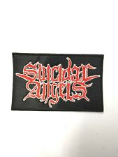 SUICIDAL ANGEL RED & WHITE LOGO  EMBROIDERED  PATCH