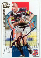 ✺Signed✺ 2005 SYDNEY ROOSTERS NRL Card CRAIG FITZGIBBON