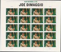 Joe Dimaggio U.S. Forever Sheet of 20 Forever Stamps Scott 4697