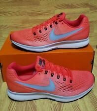 Mens Nike Air Zoom Pegasus 34 880855-604 Bright Crimson/Ice Blue NEW Size 10