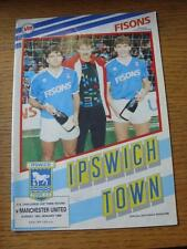 10/01/1988 Ipswich Town v Manchester United [FA Cup] (Team Changes)