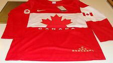 Team Canada 2014 Sochi Winter Olympics Hockey Jersey XX Large Red Twill Ice