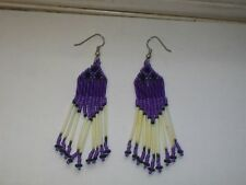 Porcupine Quill  earrings  New handcrafted Purple Native American