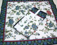 Williams Sonoma Crane Bird Floral Cotton Dinner Napkins Set of 4 New