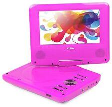 Alba 7 Inch Portable DVD Player con schermo girevole-Rosa CDVD7SW