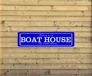 Personalized Lake House Metal Sign Custom Vacation Home Plaque fishing cabin L23