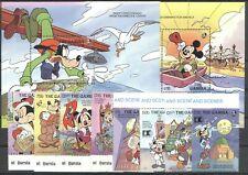 Walt Disney, Kolumbus, Granada - Gambia - 1329-1336, Bl.147-148 ** MNH 1992
