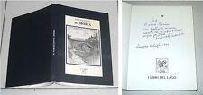 Pasquale Maulini MEMORIA - I libri del lago 1987 AUTOGRAFO Omegna Novara