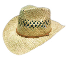 05e8bcab6aa Ladies Girls Cowboy Straw Summer Sun Hat Beach Handmade Classic Hawaii  Travel UK
