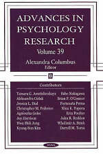 Advances in Psychology Research: v. 39 - New Book Columbus, Alexandra
