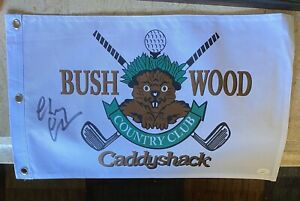 Chevy Chase Signed Caddyshack Bushwood Flag Autographed With JSA Authentication