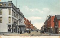 Fremont Ohio~Front Street~Jackson Hotel~Stable~Horse Wagon & Trolley~1909 PC