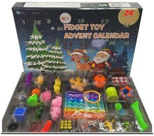 Advent Calendar Surprise Fidget Box Push Pop Bubble Toy it Sensory Set UK