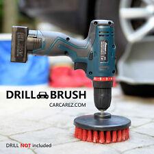 "Heavy Duty 5"" Round Scrub Brush with Power Drill Attachment"