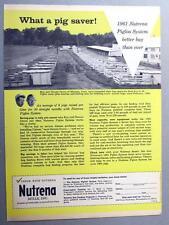 Original 1961 Nutrena Feed Ad Photo Endorsed Roy & Dennis Grove Monona Iowa