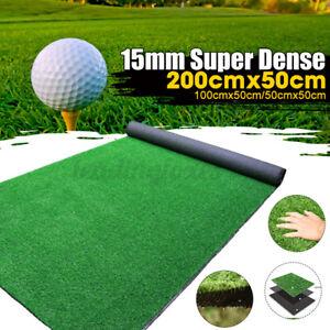 15mm Dense Artificial Turf Grass Mat Fake Synthetic Landscape Golf Garden Lawn