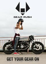 Gear Rush Men Motorbike Safety Jeans Made With DuPont™ Kevlar® Motorcycle Pants