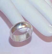 Plain Wide Size 7.5 Antique Vintage Sterling Wedding Band Ring Women's