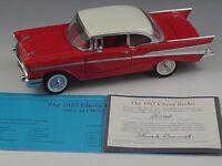 FRANKLIN MINT 1957 CHEVROLET BEL AIR HARD TOP DIE-CAST 1:24 SCALE MINT CONDITION