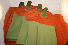 Fall Tablecloth, Beautiful Pumpkin Placemats, Napkins, and Towels