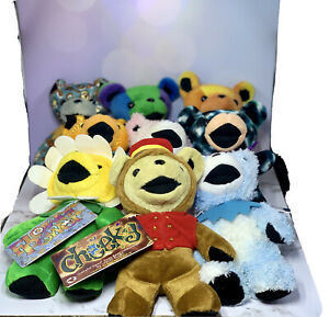 GRATEFUL DEAD Bean Bear Lot Of (9) Plush Toy Beanbag Liquid Blue Steven Smith☮