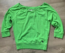 Abercrombie Fitch Semi Cropped Sweatshirt Juniors Size Small Green