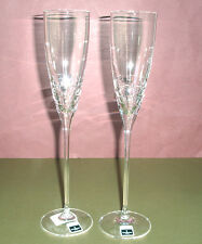 Waterford John Rocha FOLIO 2 Crystal Toasting Flute Pair 152017 New