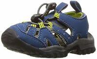 Kids Northside Boys Burke II Pull On Fisherman Sandals, Navy/Gray, Size 4.0 ixya