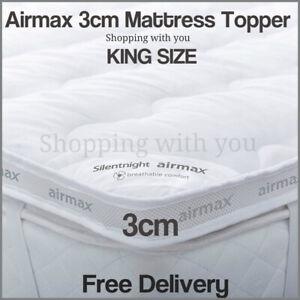 Silentnight Luxury King Size Bed Mattress Topper Matress Comfort Anti Allergy UK