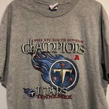 Tennessee Titans 2003 AFC South Champions Shirt NFL Football Large Nashville