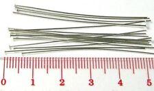 "100 Sterling Silver 24 gauge 2"" Headpin Head pin solid 925 flat dome head F03"