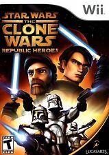 STAR WARS The CLONE WARS REPUBLIC HEROES Wii - LN