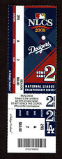 2008 NLCS Game 2 Full Ticket Stub Philadelphia Phillies Vs L.A. Dodgers