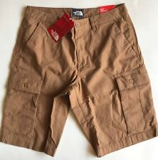 $65 NWT Mens The North Face Rock Wall Cargo Relaxed Fit Shorts Cargo Khaki 32