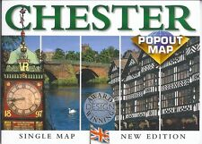 PopOut Map of Chester, England, Great Britain, UK