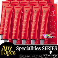 Any 10pcs Schwarzkopf IGORA ROYAL Permanent Colour Hair Dye Specialities Series