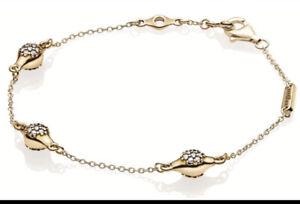 Genuine Pandora Moments Pave Modern LovePods Chain Bracelet 18cm 567354CZ-18